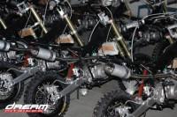 Ciclistica e Motori della Dream Pit bike